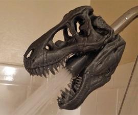 T-Rex Skull Shower Head