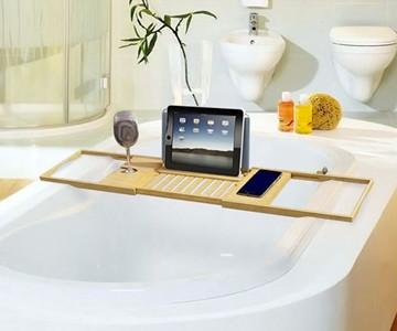 Luxury Bamboo Bathtub Caddy