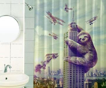 Slothzilla Shower Curtain