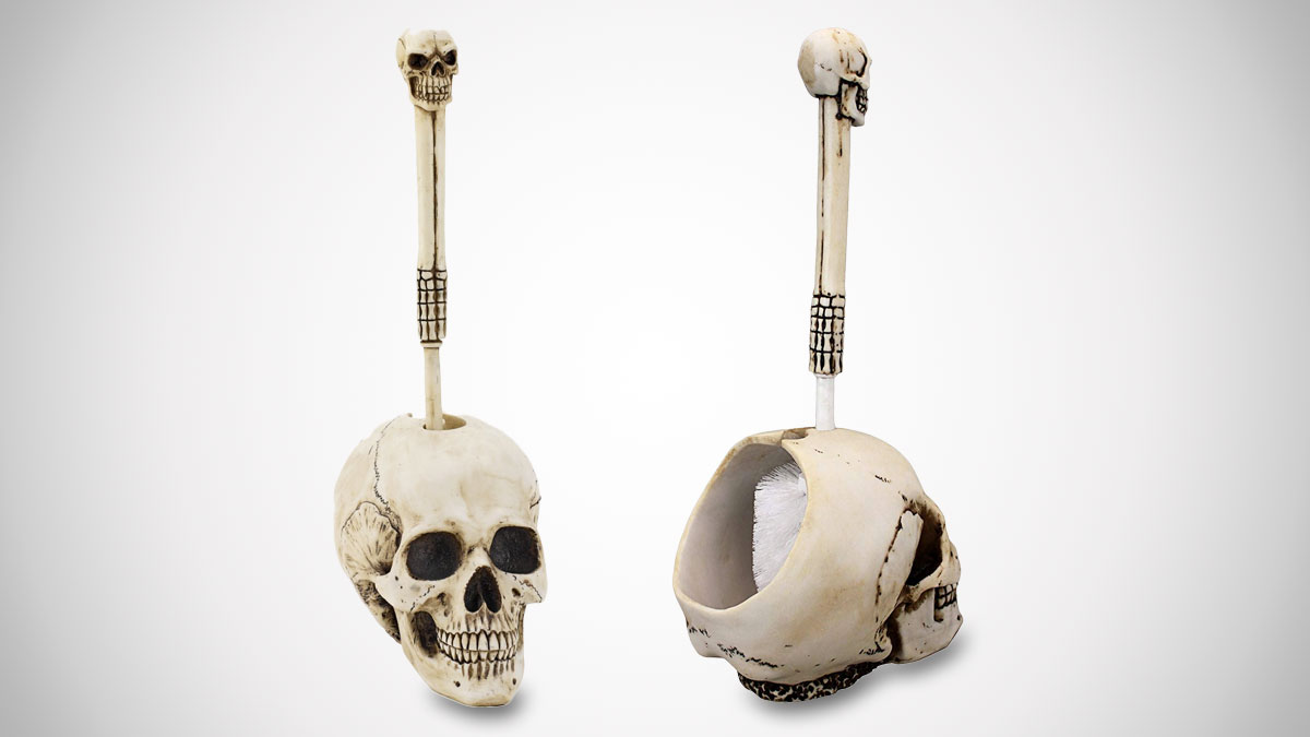 Toilet Brush Head : Skullduggery skeleton toilet brush dudeiwantthat.com