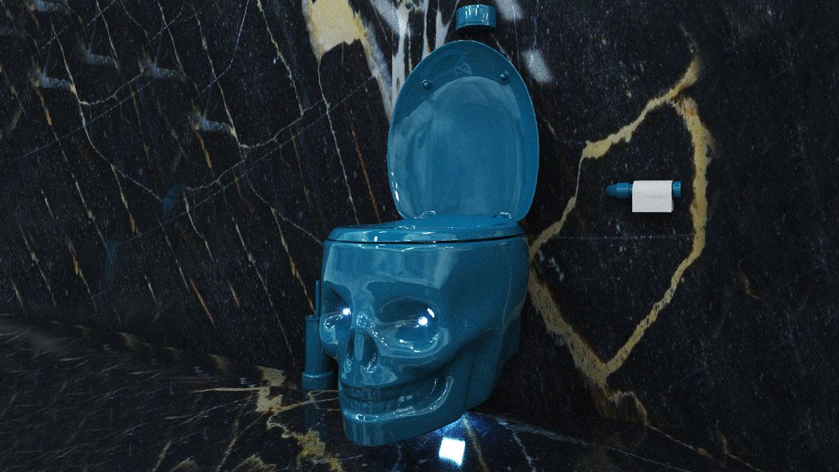 WaterThrone Skull Toilet