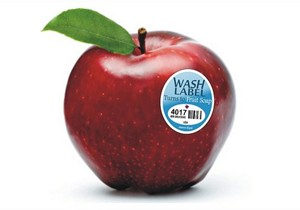 Vanishing Fruit Wash Labels