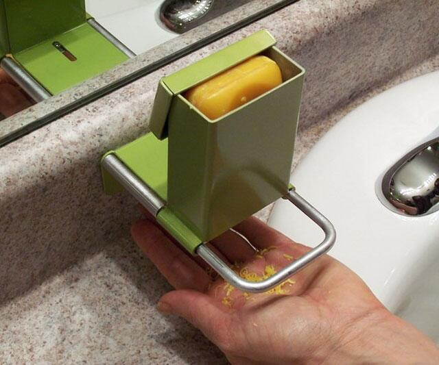 The super shaver soap saver - Soap flakes dispenser ...