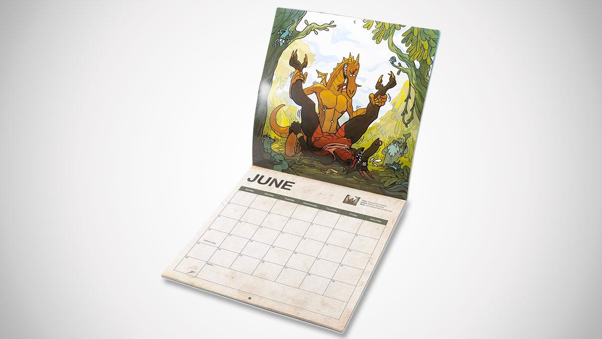 2019 Dragon Sex Wall Calendar