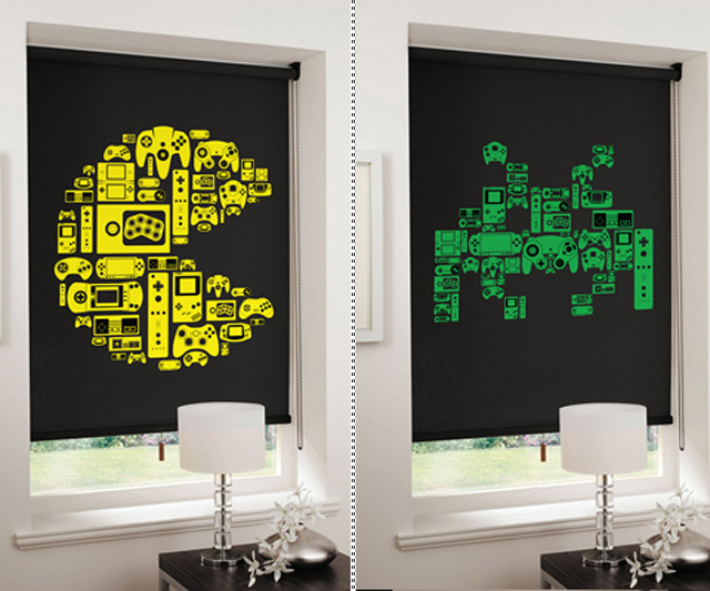 8 bit gaming blinds for 8 bit room decor
