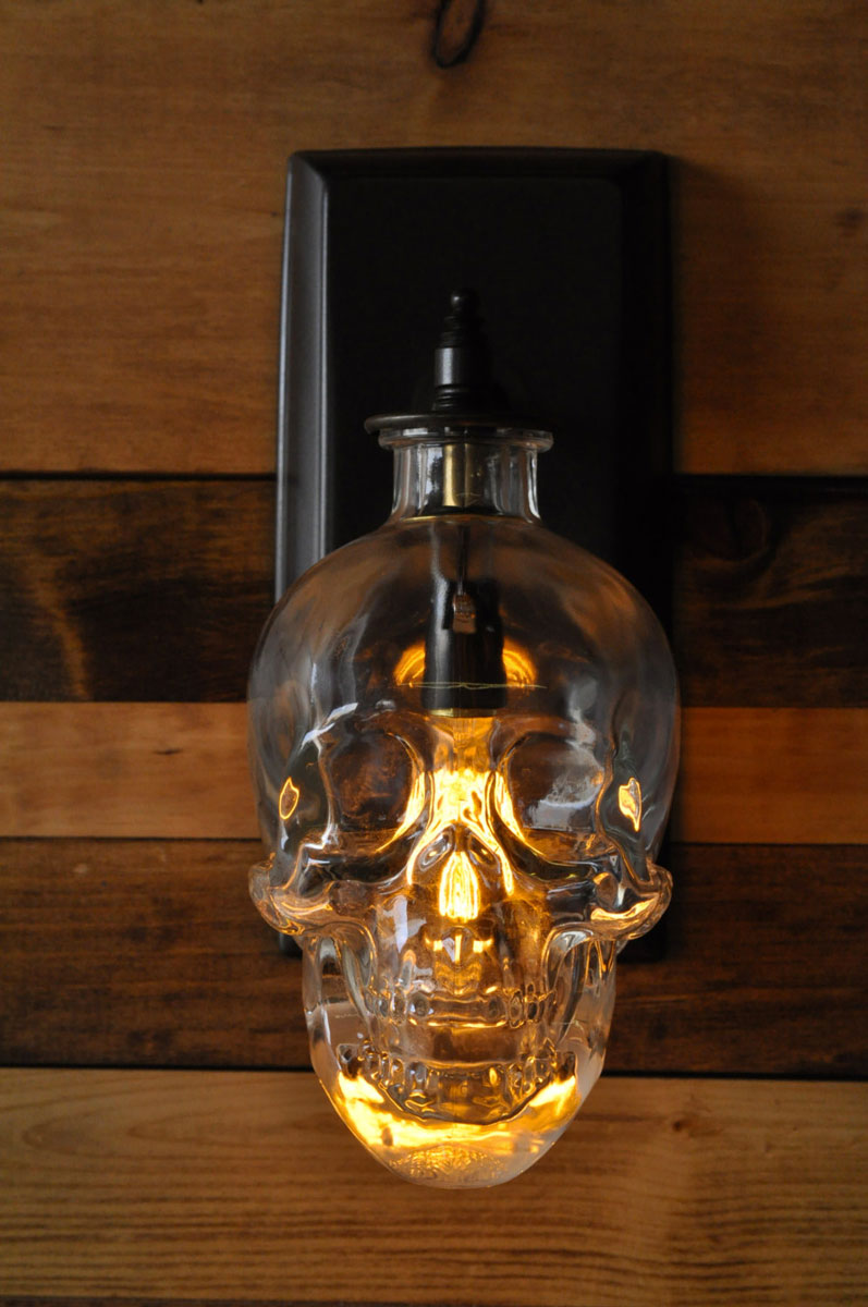 Crystal Head Vodka Skull Wall Sconce Dudeiwantthat Com