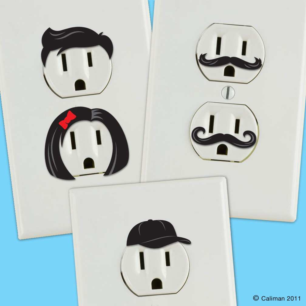 Electrical power outlet stickers for Outlet design