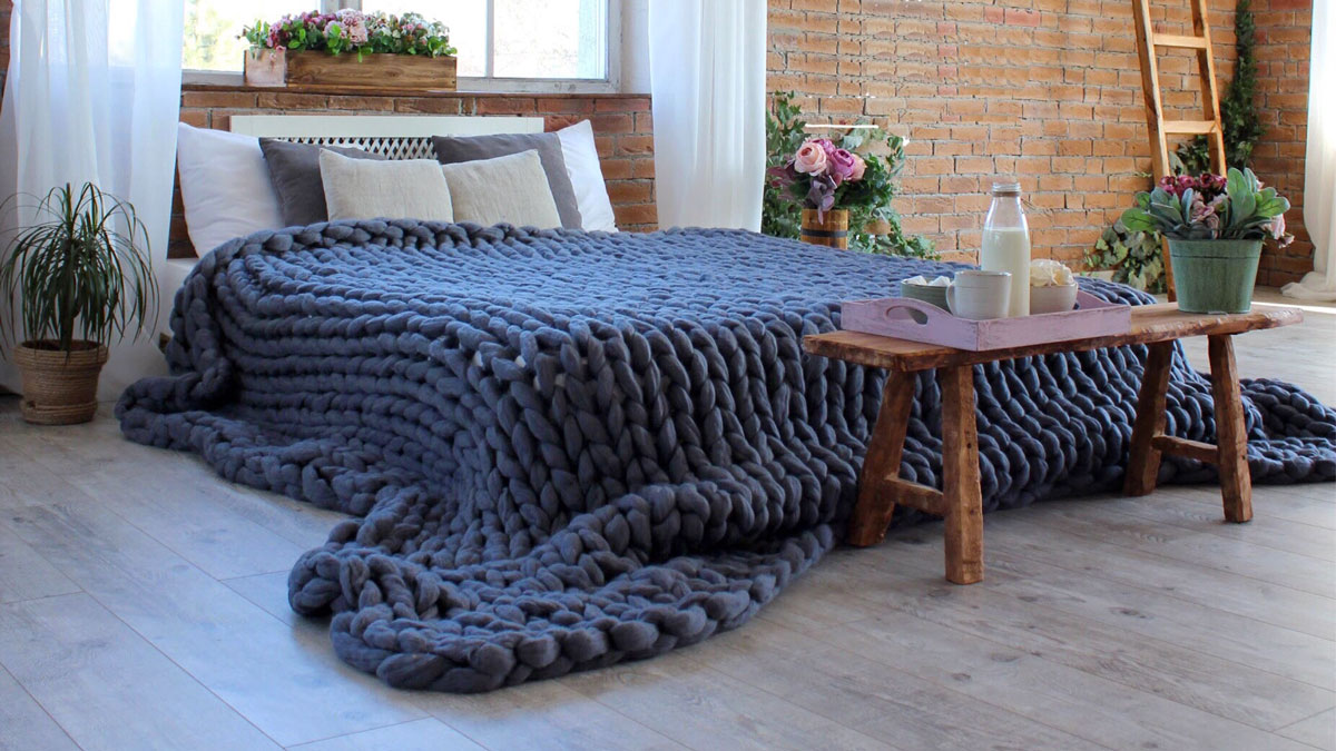 Extra Large Chunky Knit Blanket