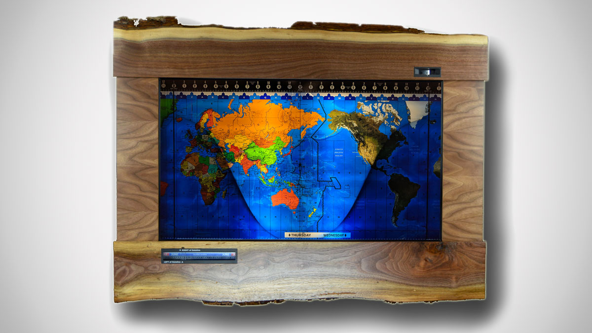 Geochron World Map & 24-Hour Clock