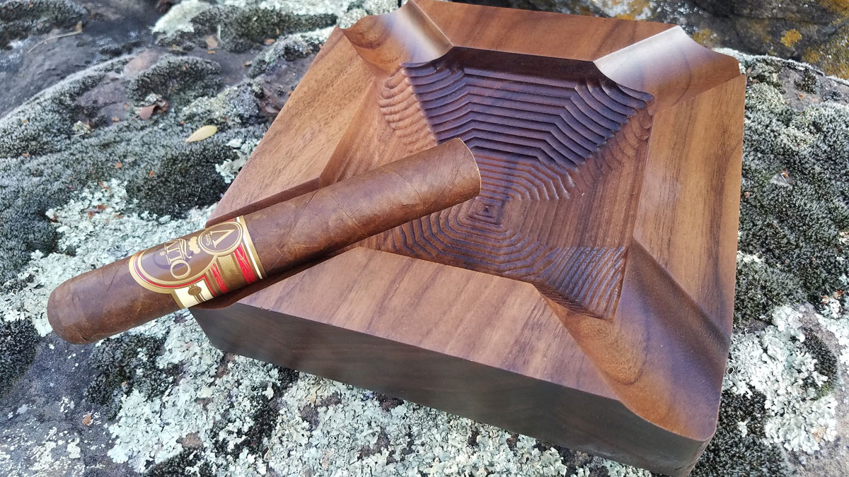 Handmade Walnut Cigar Ashtrays