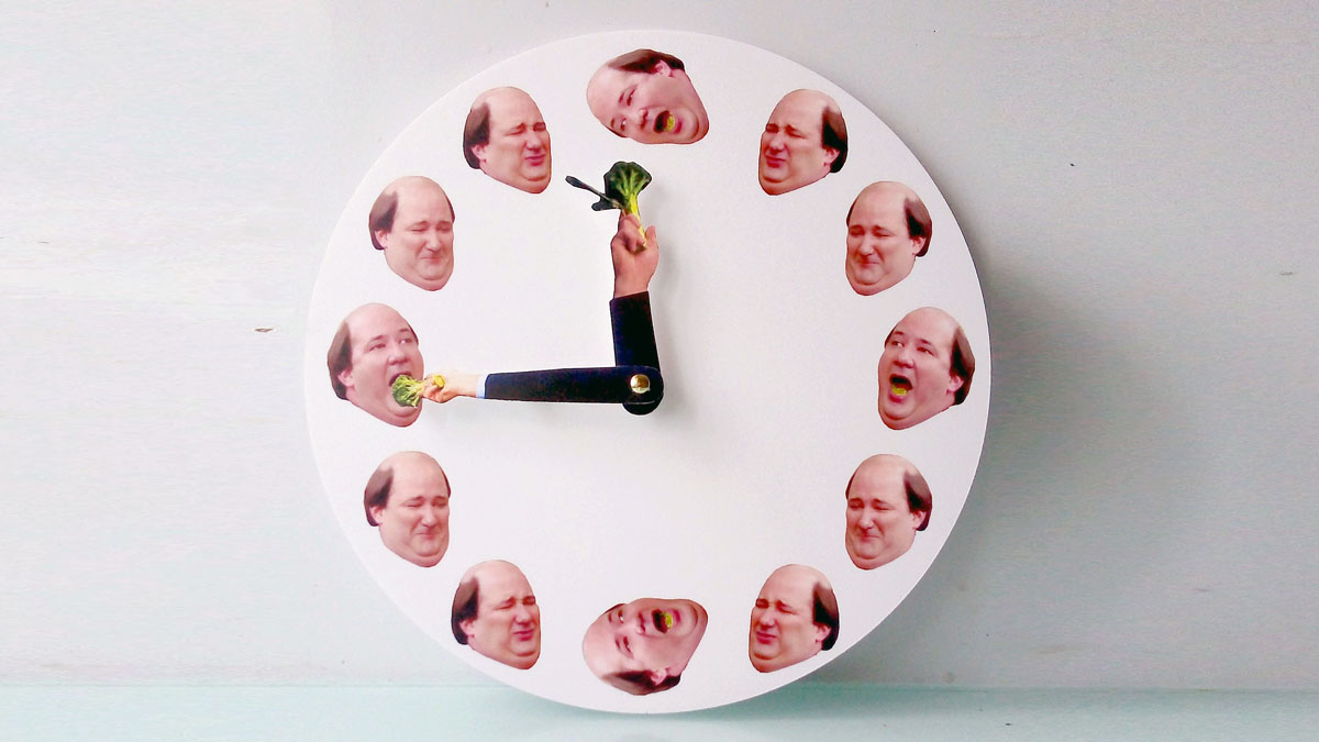 Kevin Hates Broccoli Wall Clock