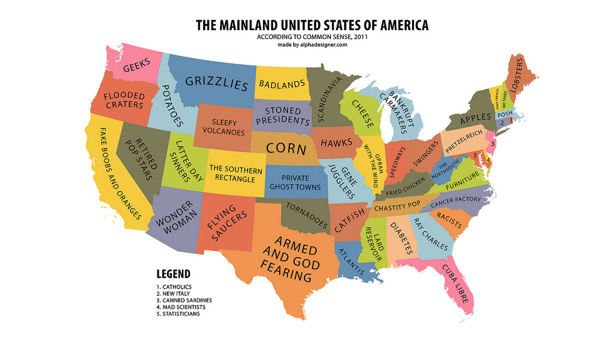 Mainland USA, According to Common Sense