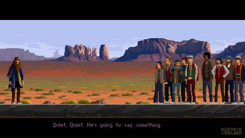 Pixel Art Forrest Gump Poster