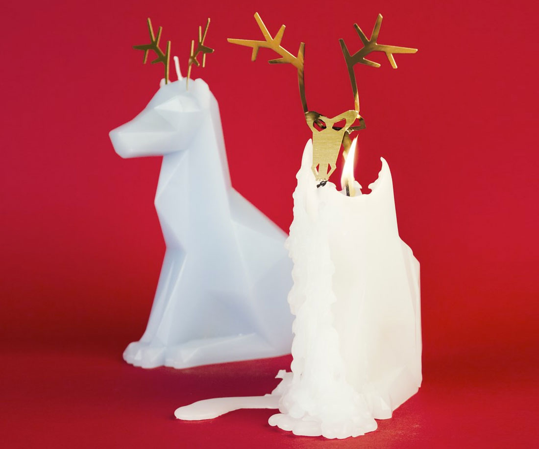 PyroPet Reindeer Candle | DudeIWantThat.com