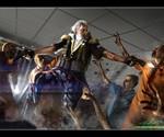 George Washington Fighting Zombies