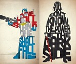 Typographic Iconic Movie Prints - Optimus Prime & Darth Vader