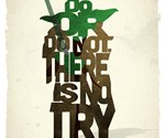 Typographic Iconic Movie Prints - Yoda