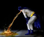 WTF? Icon Prints - Batman Puking