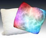 Acid Trip Pillow Lit and Unlit