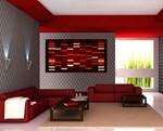 DNA Portrait Modern Living Room