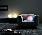 Light Up Pillow in Living Room