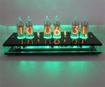 Six Digit Nixie Tube Clock Green Light Display