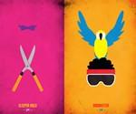 WWF Legends Minimalist Posters - Brutus the Barber Beefcake & Koko B. Ware