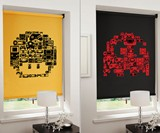 8-Bit Gaming Blinds - Mario Mushroom & Pac-Man Ghost