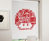8-Bit Gaming Blinds - Red Mario Mushroom