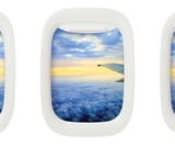 Airplane Window Picture Frames