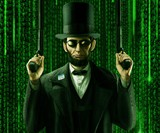 Abraham Lincoln Matrix Reloaded Print