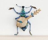 Beetle Playing the Banjo Taxidermy