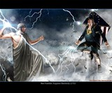 Ben Franklin Vs. Zeus Print