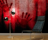 Bloody Handprint Wallpaper