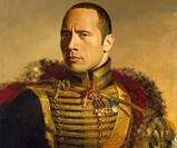 Dapper Celebrity Soldier Prints - The Rock
