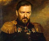 Dapper Celebrity Soldier Prints - Ricky Gervais
