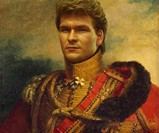 Dapper Celebrity Soldier Prints - Patrick Swayze