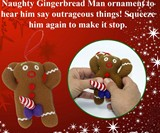 Dirty Talking Gingerbread Man Christmas Tree Ornament