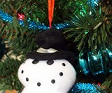 Dirty Talking Snowman Christmas Tree Ornament