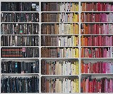 Library Wallpaper - Black to Pink