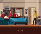 Pixel Art Seinfeld Print