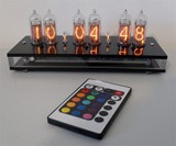 Six Digit Nixie Tube Clock with Remote Control