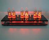 Six Digit Nixie Tube Clock Red Light Display