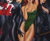The Bad Girls of Batman Print