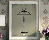 Walking Dead Minimalist Prints - Daryl Dixon