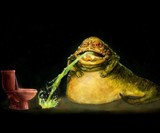 WTF? Icon Prints - Jabba the Hutt Puking