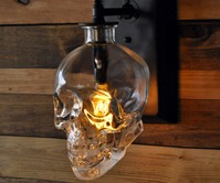 Crystal Head Vodka Skull Wall Sconce