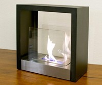Ventless Freestanding Bio-Ethanol Fireplace