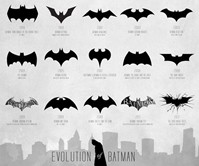 Evolution of the Bat-Signal Poster