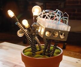 Industrial Cactus Lamp Sculpture